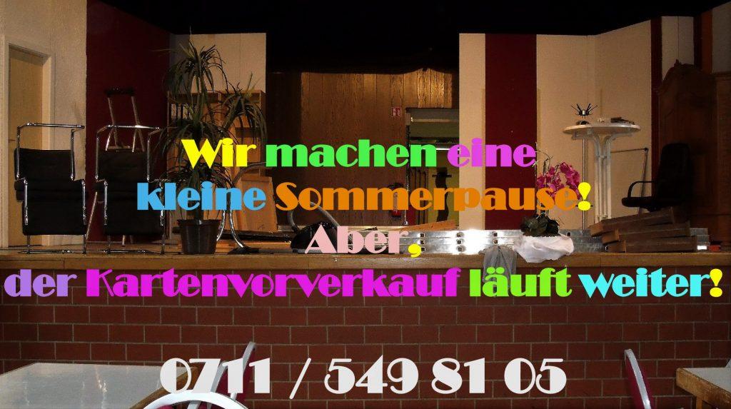 Plakat Sommerpause